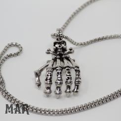 Skeletthand Halskette